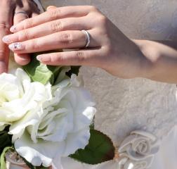 【ティファニー(Tiffany & Co.)の口コミ】 結婚指輪は絶対にプラチナ!!と初めから決めてました。 「冠婚葬祭にも付…