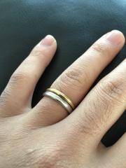 【結婚指輪手作り.comの口コミ】 結婚指輪は元々ティファニーのシルバーリングを持っていて、嫁と付き合って…