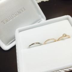 【TRECENTI(トレセンテ)の口コミ】 婚約指輪がこちらのブランドだったので1番に見にいきました。元々結婚指輪…