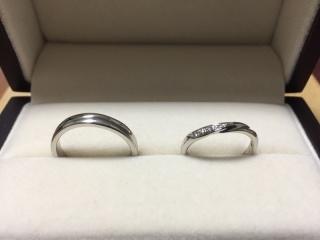 【JEWELRY  KAMATA(ジュエリーかまた)の口コミ】 キラキラして可愛らしい指輪で、指にしっくりきたのでこちらに決めました。…