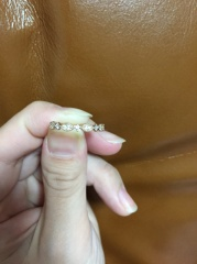 【PAVEO CHOCOLAT(パヴェオショコラ)の口コミ】 もうひとつ悩んでいた指輪がありましたが、もうひとつはかわいいけれど幼…