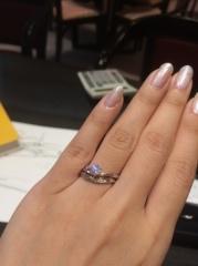 【ケイウノ ブライダル(K.UNO BRIDAL)の口コミ】 他にはないデザインが多くあります。結婚指輪に関しては、ゴールドを組み…