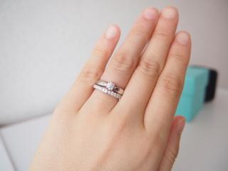 【ティファニー(Tiffany & Co.)の口コミ】 十代の頃からティファニーのダイヤモンド付きマリッジリングに憧れていた…