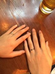 【スタージュエリー(STAR JEWELRY)の口コミ】 婚約指輪と重ね付けがしたくて、細めのエタニティリングにしようと決めて…