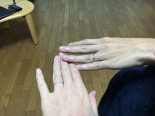 【Galopine & Galopin(ガロピーネガロパン)の口コミ】 婚約指輪を購入しなかったので、その分結婚指輪をずっと付けれる素敵なデザ…