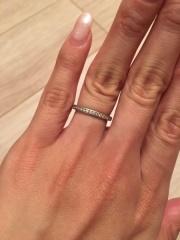 【ティファニー(Tiffany & Co.)の口コミ】 夫とは手のタイプが違うためペアではなくそれぞれ違うデザインにしよう、と…