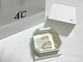 【4℃(ヨンドシー)の口コミ】 ストレートデザインの細身のリングを探していて、他のブランドも何点か試…