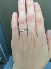 【ティファニー(Tiffany & Co.)の口コミ】 結婚指輪は華奢で小さな石の付いたものというなんとなくのイメージがあっ…