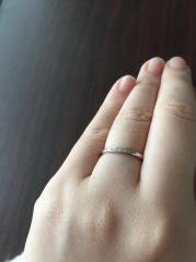 【RosettE(ロゼット)の口コミ】 指輪を今までつける習慣がなく、スタッフの方にアドバイスしていただきなが…