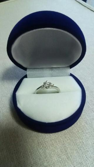 【ガラOKACHIMACHIの口コミ】 義母から譲り受けたエンゲージリングをリフォームしました。 結婚指輪は別…