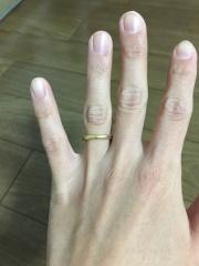 【ジュエリーツツミ(JEWELRY TSUTSUMI)の口コミ】 結婚指輪はあまり人とかぶりたくなくて、珍しいイエローゴールドの指輪を…