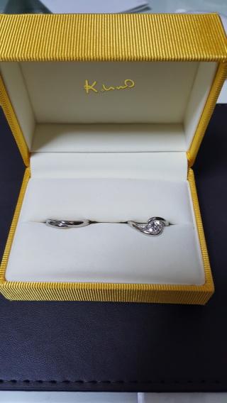 【ケイウノ ブライダル(K.UNO BRIDAL)の口コミ】 亡くなった母の指輪があるのは知っていて、どうしても母の指輪をしたかっ…