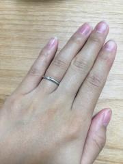 【ヴァンドーム青山(Vendome Aoyama)の口コミ】 長年使うことを考え、シンプルな一粒ダイヤがついているのがよかったのでこ…