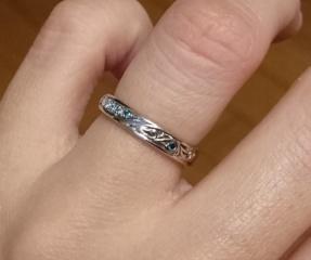 【ケイウノ ブライダル(K.UNO BRIDAL)の口コミ】 婚約指輪をこちらで購入しており、結婚指輪もフルオーダーで作りたかった…