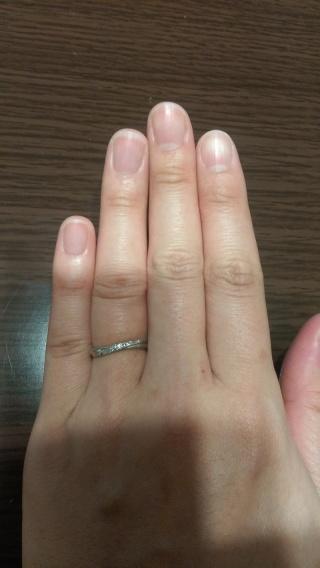 【スタージュエリー(STAR JEWELRY)の口コミ】 マリッジリングと重ね付けしたかったので、S字ラインの指輪を探していまし…