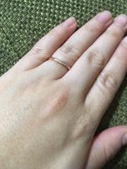 【THE KISS & RoseMarry(ザ キッス&ローズマリー)の口コミ】 結婚3年記念日に結婚指輪を新調しました。主人の指が太くなり、以前の指輪…