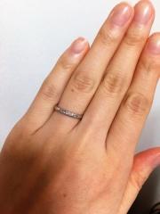 【MAHARAJA DIAMOND(マハラジャダイヤモンド)の口コミ】 ダイヤモンド付きの、シンプルで仕事の邪魔にならないものを探していました…