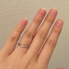 【銀座ダイヤモンドシライシの口コミ】 店員さんからも説明された「シライシウェーブ」と呼ばれる、少しウェーブ…