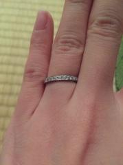 【ギンザタナカブライダル(GINZA TANAKA BRIDAL)の口コミ】 婚約指輪がなかったので、結婚指輪はダイヤがいっぱい付いているのを探して…