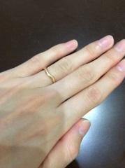 【ティファニー(Tiffany & Co.)の口コミ】 シンプルかつピンクゴールドのある指輪を探していたんですが、1軒目のTi…