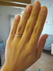 【アイプリモ(I-PRIMO)の口コミ】 結婚指輪は普段の生活でも付ける予定だったし、でも平凡なのは嫌だったし、…