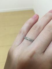 【銀座ダイヤモンドシライシの口コミ】 派手すぎず、でも石が入っている指輪がよかったので、なかなか条件を満たす…