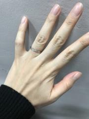 【4℃(ヨンドシー)の口コミ】 ヨンドシーに憧れがあり、ストレートのラインでシンプルなデザインと考え…