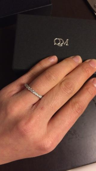 【QDMの口コミ】 結婚指輪だから、派手すぎたら嫌だけどできたら少しは石が付いてたほうが…