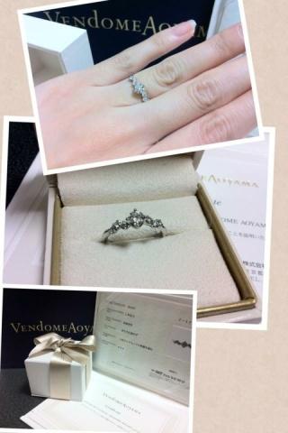 【ヴァンドーム青山(Vendome Aoyama)の口コミ】 ザ、婚約指輪!と言った、オーソドックスな立て爪の指輪が欲しくて見てい…