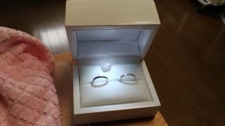 【SommJewelry(ソムジュエリー)の口コミ】 手作り指輪というところです。お互いがお互いのことを想って、相手の指輪を…