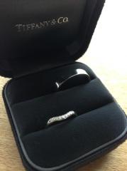 【ティファニー(Tiffany & Co.)の口コミ】 結婚指輪はティファニーっていう夢がずっとありましたが、やはり他の指輪…