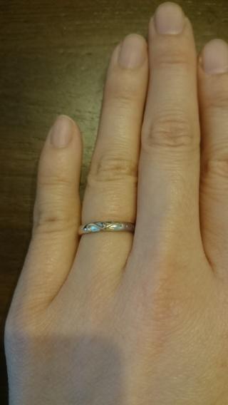 【JEWELRY  KAMATA(ジュエリーかまた)の口コミ】 元々結婚指輪は既製品ではなくオーダーしようと思っていたので、オーダーで…