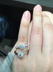 【アイプリモ(I-PRIMO)の口コミ】 取り巻きのデザインがとてもよかったです。 取り巻きのダイヤモンドも1つ…