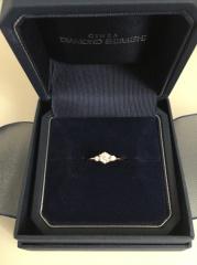 【銀座ダイヤモンドシライシの口コミ】 質の良いダイヤモンドで、天然であることの証明書も付いていたのが魅力的で…