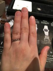 【JEWELRY  KAMATA(ジュエリーかまた)の口コミ】 普段使いできるようなシンプルで、夫婦ペアでも違和感のないデザインの指…