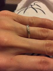 【JEWELRY  KAMATA(ジュエリーかまた)の口コミ】 私の指輪には、旦那のイニシャルである「K」が書かれています。そして、旦…