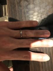 【JEWELRY  KAMATA(ジュエリーかまた)の口コミ】 男性がつけてもかわいすぎず、かつ派手すぎずとてもいい指輪だと思いました…