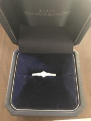 【銀座ダイヤモンドシライシの口コミ】 デザインがすごく可愛らしく、豪華なのに派手にならなくてとても良かった…