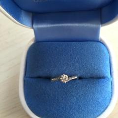 【銀座ダイヤモンドシライシの口コミ】 細身でウェーブのある指輪を探していましたが、イメージにぴったりだったの…
