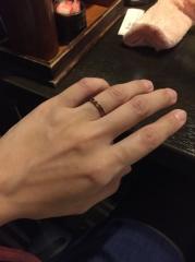 【アトリエミラネーゼの口コミ】 一生に一度の結婚指輪なので、既製品ではなく世界に一つしかない指輪を購…