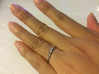【JEWELRY  KAMATA(ジュエリーかまた)の口コミ】 ホワイトダイヤモンドの1つを、ブルーダイヤモンドに変えることが出来た…