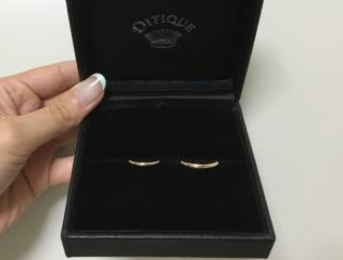 【DITIQUE(ディティーク)の口コミ】 一生身に着ける結婚指輪なので、どうしても既製品ではなくオーダーをしたい…