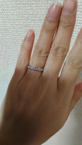 【ショーメ(CHAUMET)の口コミ】 シンプルなものよりもダイヤが入ったある程度目立つ指輪が欲しかった。一方…