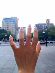 【ティファニー(Tiffany & Co.)の口コミ】 婚約指輪は立て爪リングタイプが多いのですがずっと付けていたかったので…