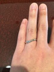 【JEWELRY  KAMATA(ジュエリーかまた)の口コミ】 色々な指輪を試着させてもらった結果、ふたりのオリジナルでオーダーする…