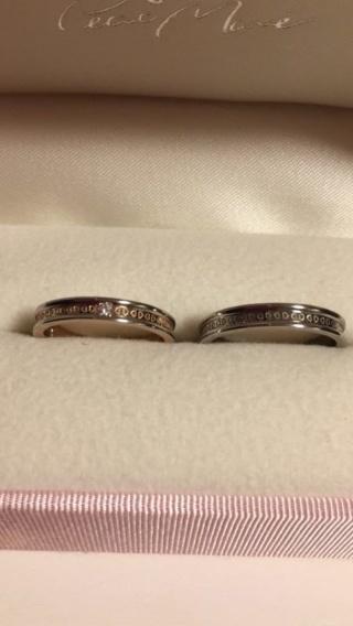 【Petit Marie(プチマリエ)の口コミ】 女性の指輪の好みと男性の好みが一致が決め手です。女性用はピンクゴールド…