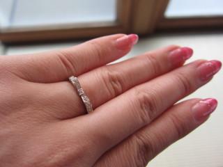 【ヴァンドーム青山(Vendome Aoyama)の口コミ】 自分の指が決して細くないため、細く見える華奢のリングを探してたところ、…