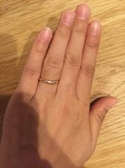 【4℃(ヨンドシー)の口コミ】 指輪の決めては価格です。ピンクゴールドが良かったので選びましたが旦那…