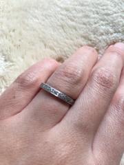 【ギンザタナカブライダル(GINZA TANAKA BRIDAL)の口コミ】 結婚指輪はエタニティタイプと決めていました。銀座にあるジュエリー店はす…