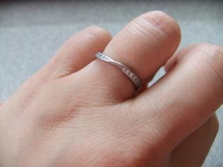 【ヴァンドーム青山(Vendome Aoyama)の口コミ】 いくつかのお店で試着をしたのですが、ヴァンドーム青山で試着したこの指…